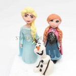 Frozen - Anna, Elsa, Olaf cake toppers