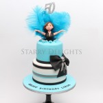 Turquoise cake by Starry Delights