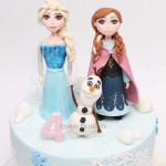 Frozen Elsa, Anna, Olaf Cake Toppers