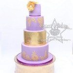Gold Wedding Cake Kelham Hall, Newark, Lincoln, Nottingham